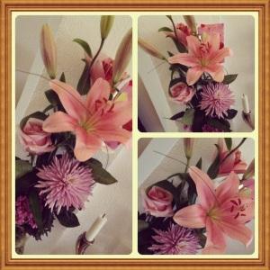 Blommor från mamma och pappa